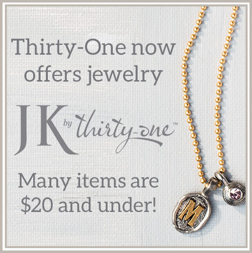 Thirty-One now offers jewlery. Many items are $20 and under