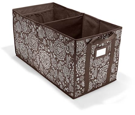 Room to Grow Utility Bin in Brown Woodblock Floral