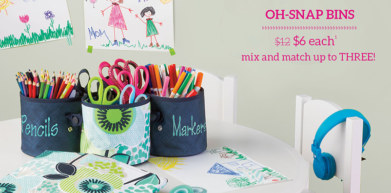Oh-snap Bins $6 each mix and match up to three!