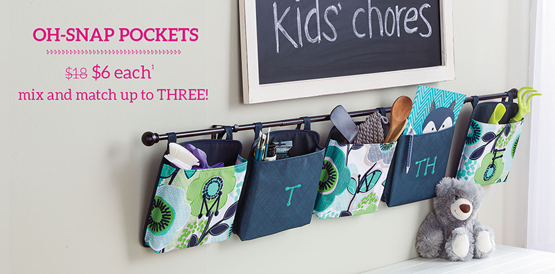 Oh-snap Pockets - $6 each mix and match up to three!
